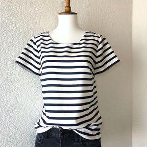J. Crew • short sleeve Horizontal striped top